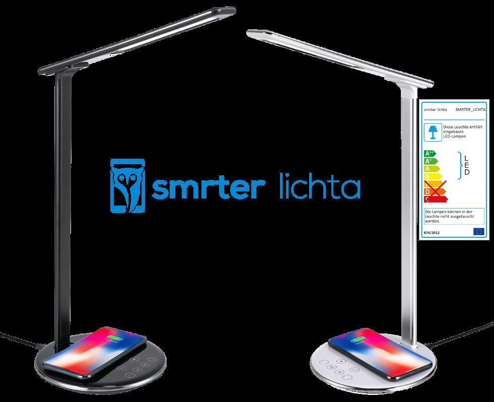 Lichta mit kabelloser Qi-Ladefunktion für Smartphones